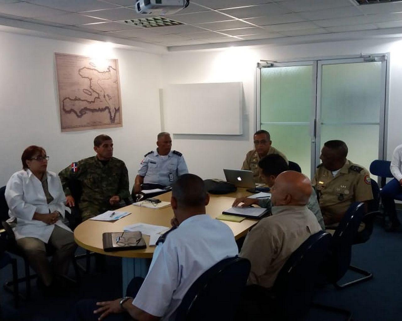 Director del ICM y su plana mayor en la creación del plan estratégico del Instituto Cartográfico Militar